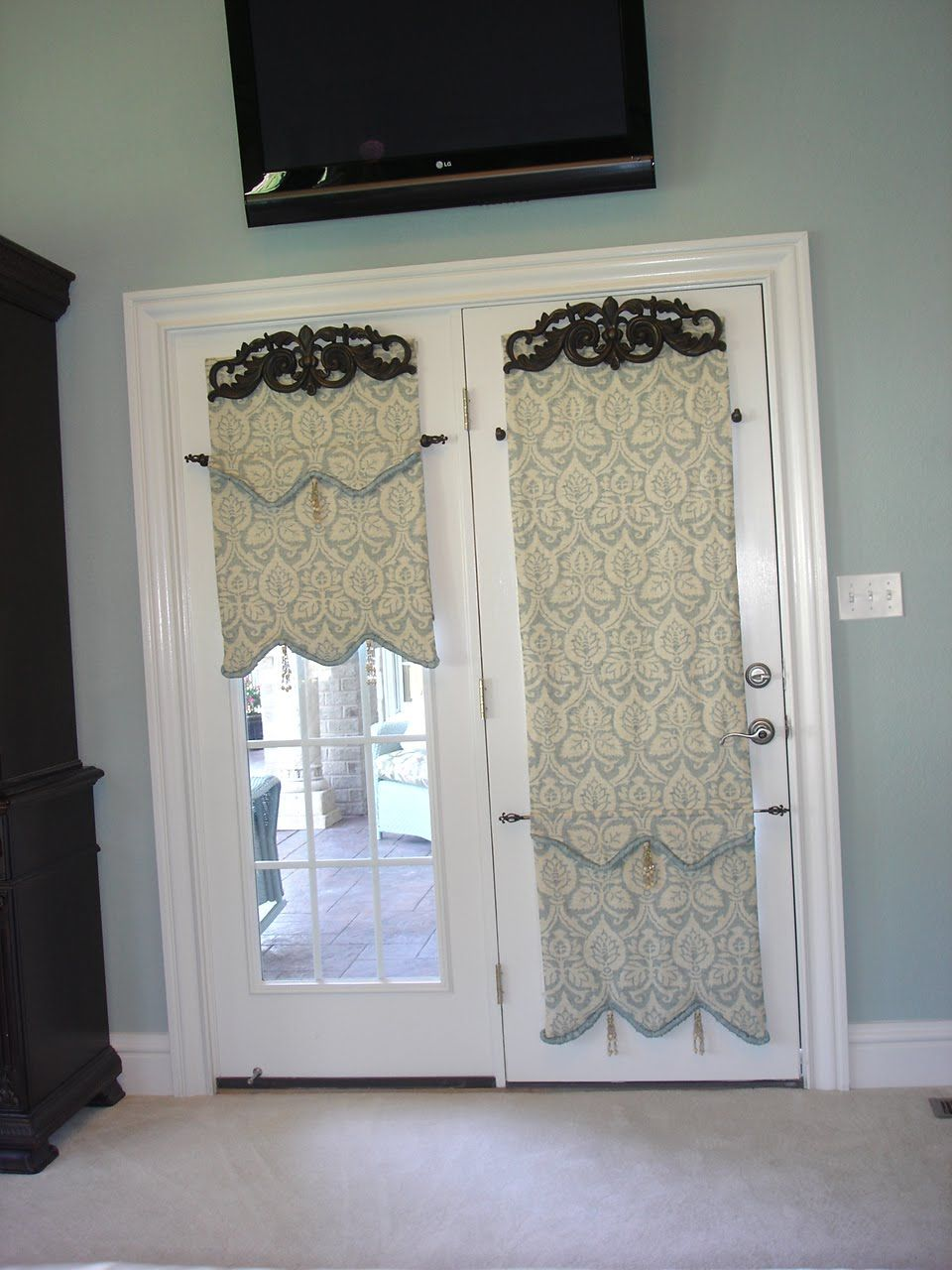 You can use any type of window treatment for French doors, but ...