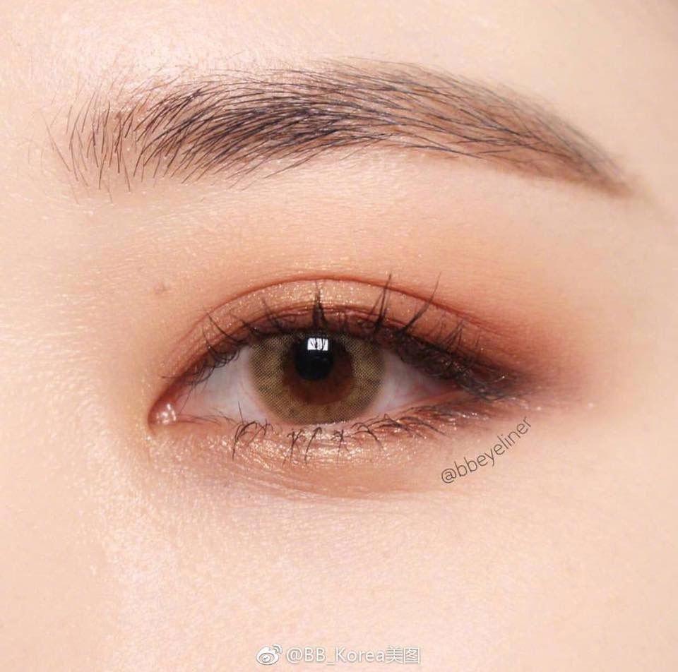 Korean natural eye makeup #EyeMakeupBronze #MakeupBrushesHolder#eye #eyemakeupbr…