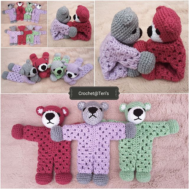 Teddy Bear Granny Hexagon Lovey #crochetteddybears