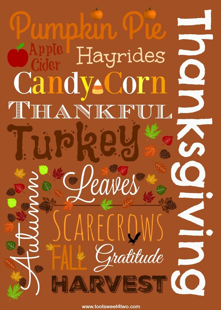 Free autumn printable thanksgiving autumn and wallpaper autumn thanksgiving printable kristyandbryce Image collections