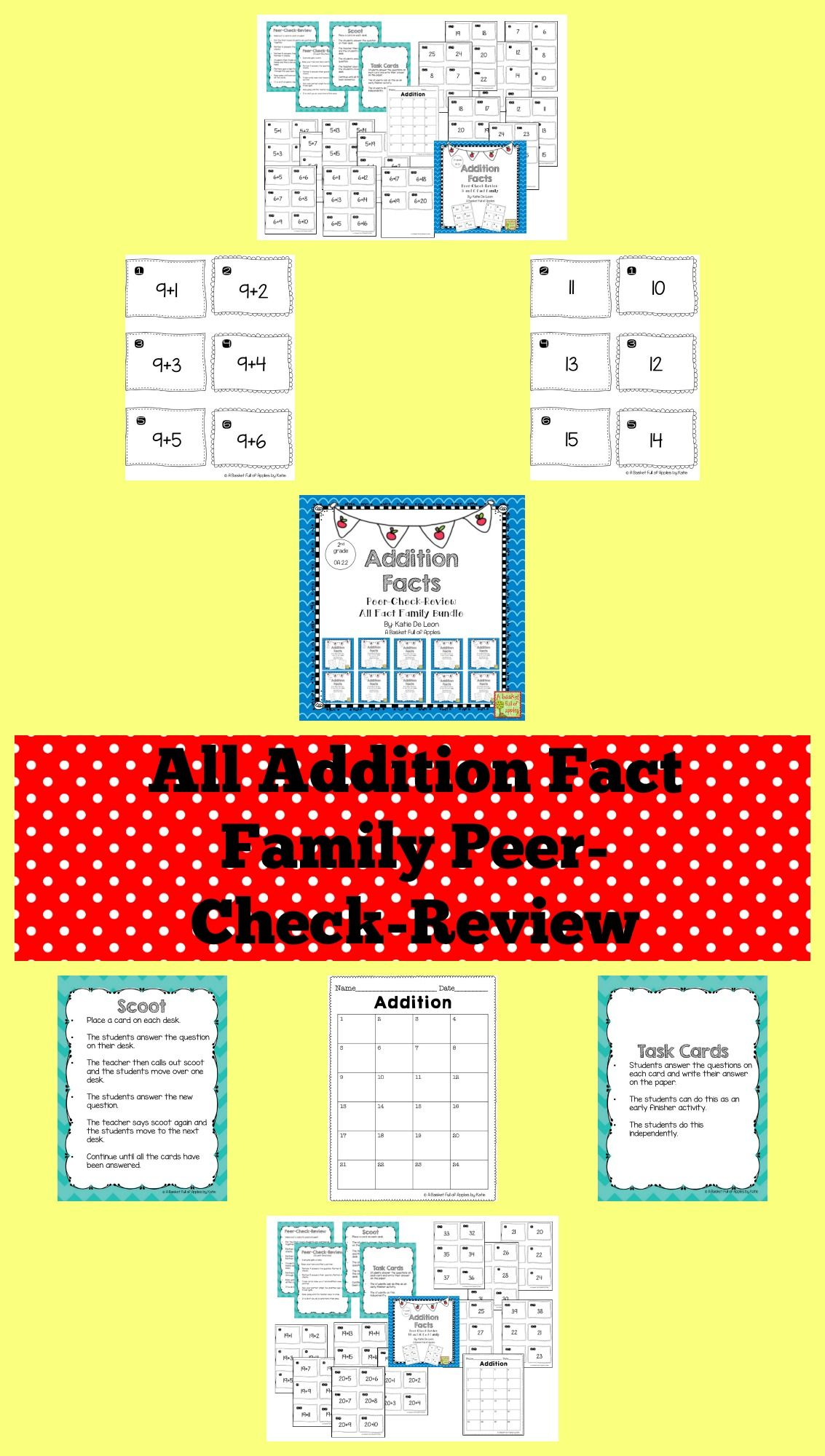 All Addition Fact Families Cooperative Learning Peer