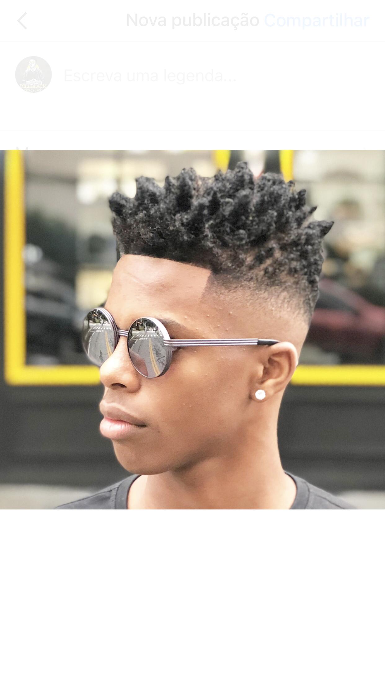 Corte moderno afro Cortes de pelo Pinterest
