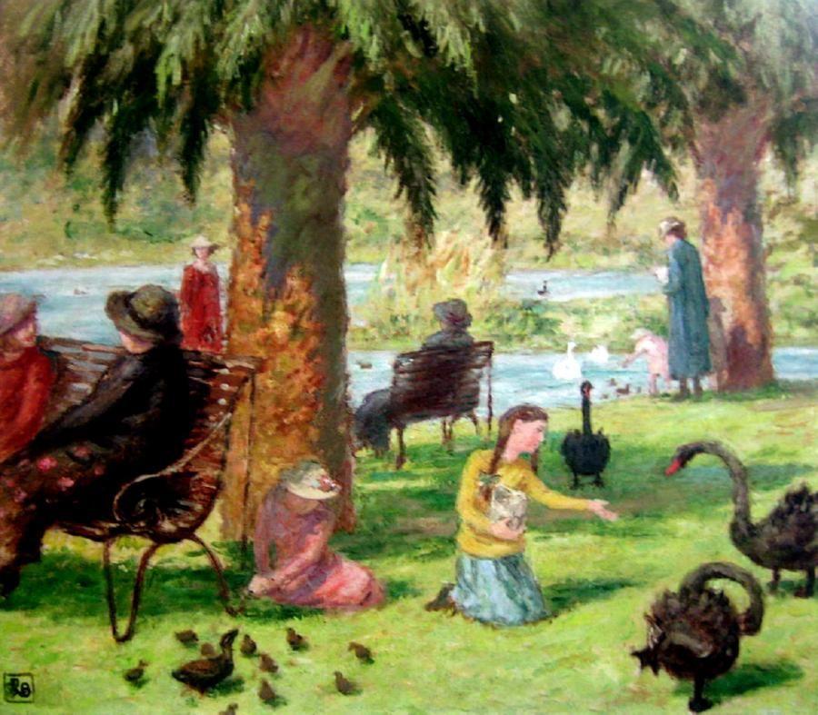 "Rupert Bunny, ""Scene in Botanical Gardens,"" ca. 1932."