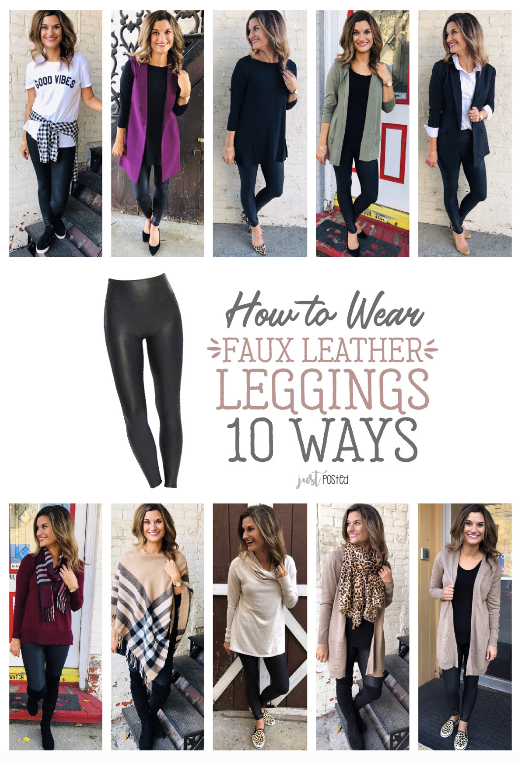 5c84350b37981 How to wear Faux Leather Leggings 10 different ways! These Spanx leggings  are the perfect