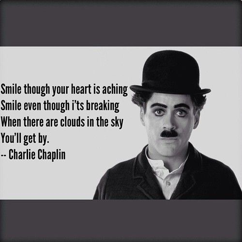 Famous Quotes By Charlie Chaplin: Robert Downey JR. As Charlie