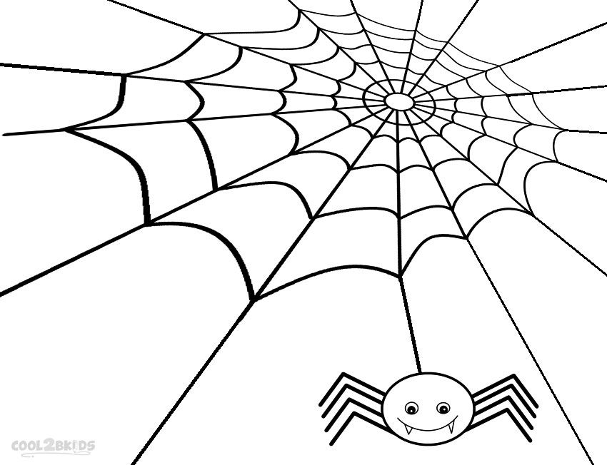 Printable Spider Web Coloring Pages For Kids Cool2bkids Spider Coloring Page Coloring Pages Coloring Pages Inspirational