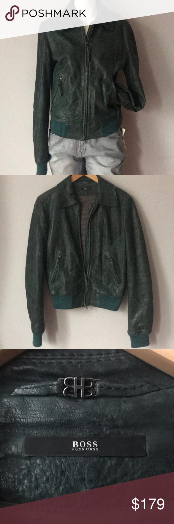 HUGO BOSS Leather Women's Jacket Leather jackets women