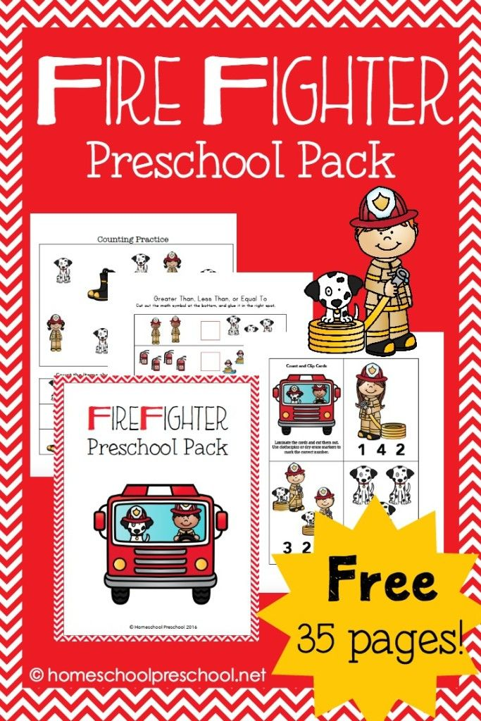 Fun and Fabulous Firefighters Printables for Preschoolers ...