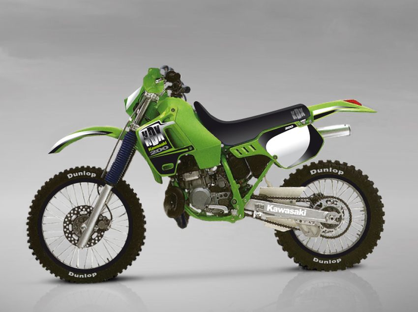 KAWASAKI KDX 200 1991   dirt bikes/3 & 4wheelers ( now and then