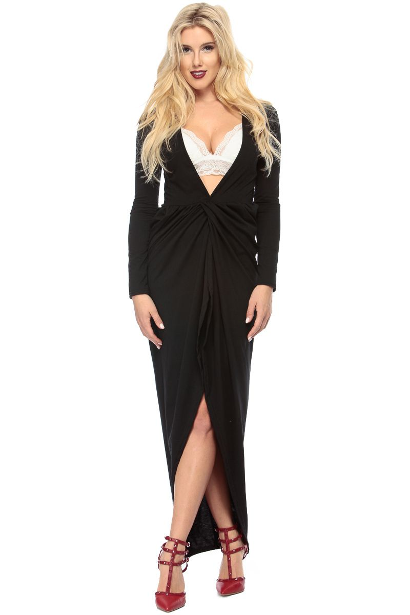 The perfect dress for a fun night out it features a v shaped