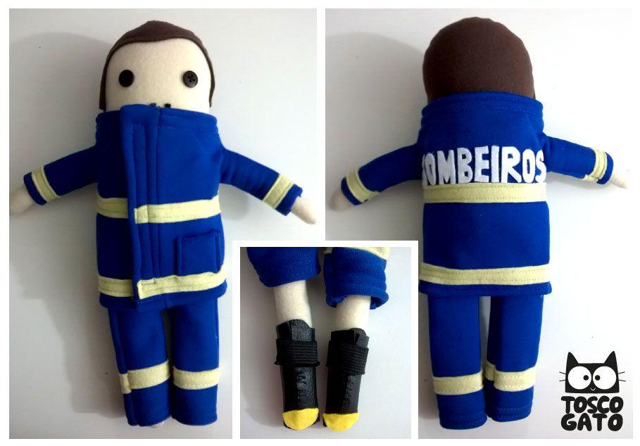 Bombeiro <3   #BM #Bombeiro #Fireman #EPI #toscogato #Boneco #toyart