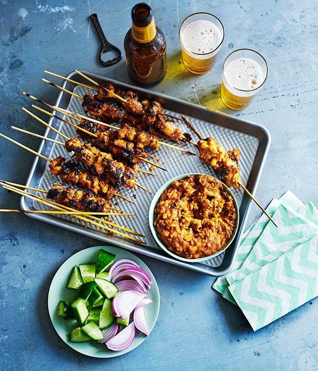 Chicken Satay Recipe Recipes Meats Pinterest Chicken Satay