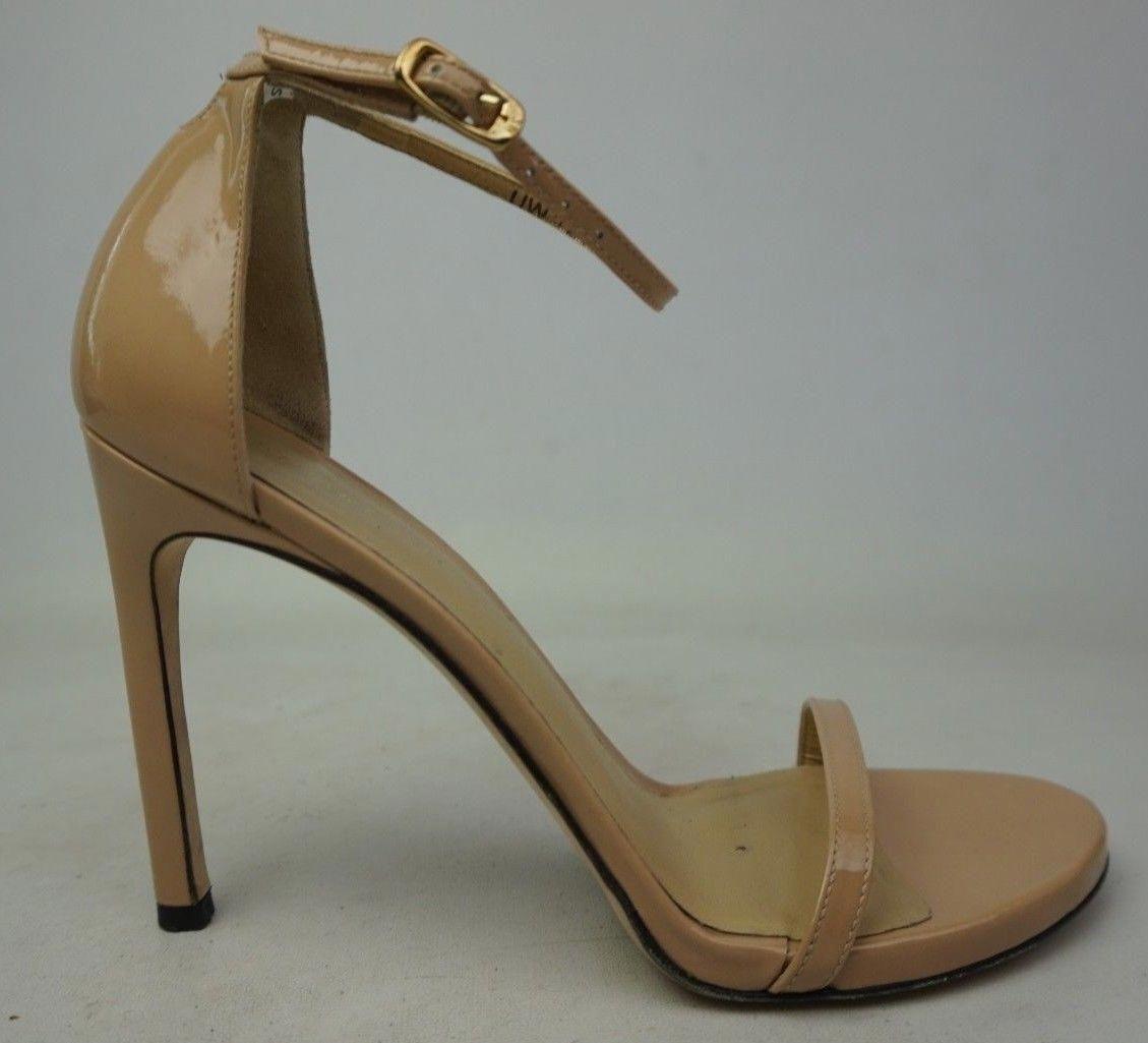 Stuart Weitzman Nudistsong Ankle Strap Sandale Adobe Aniline Aniline Adobe Patent ... 5c5d18