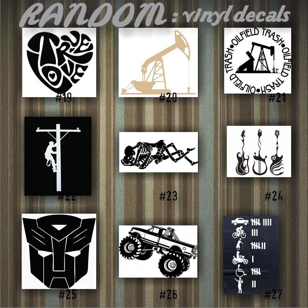 Random vinyl decals 19 27 car decal vinyl sticker random designs car window stickers custom sticker funny stickers fun decal by