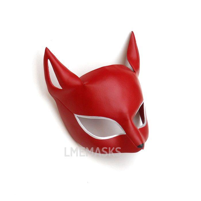 Cat Mask Ann Takamaki Persona 5 Cosplay MegaTen Game Role-Playing Leather Masks Megami Tensei Shin MegaTen Megami Tensei Halloween Costume