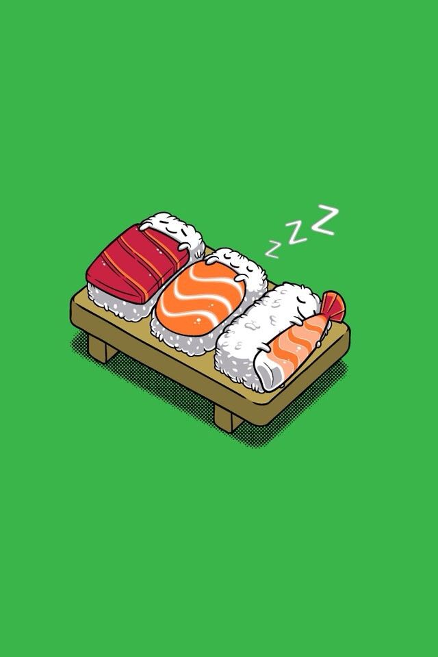 Sleeping Sushi Wallpaper Sushi Kawaii Sushi Love