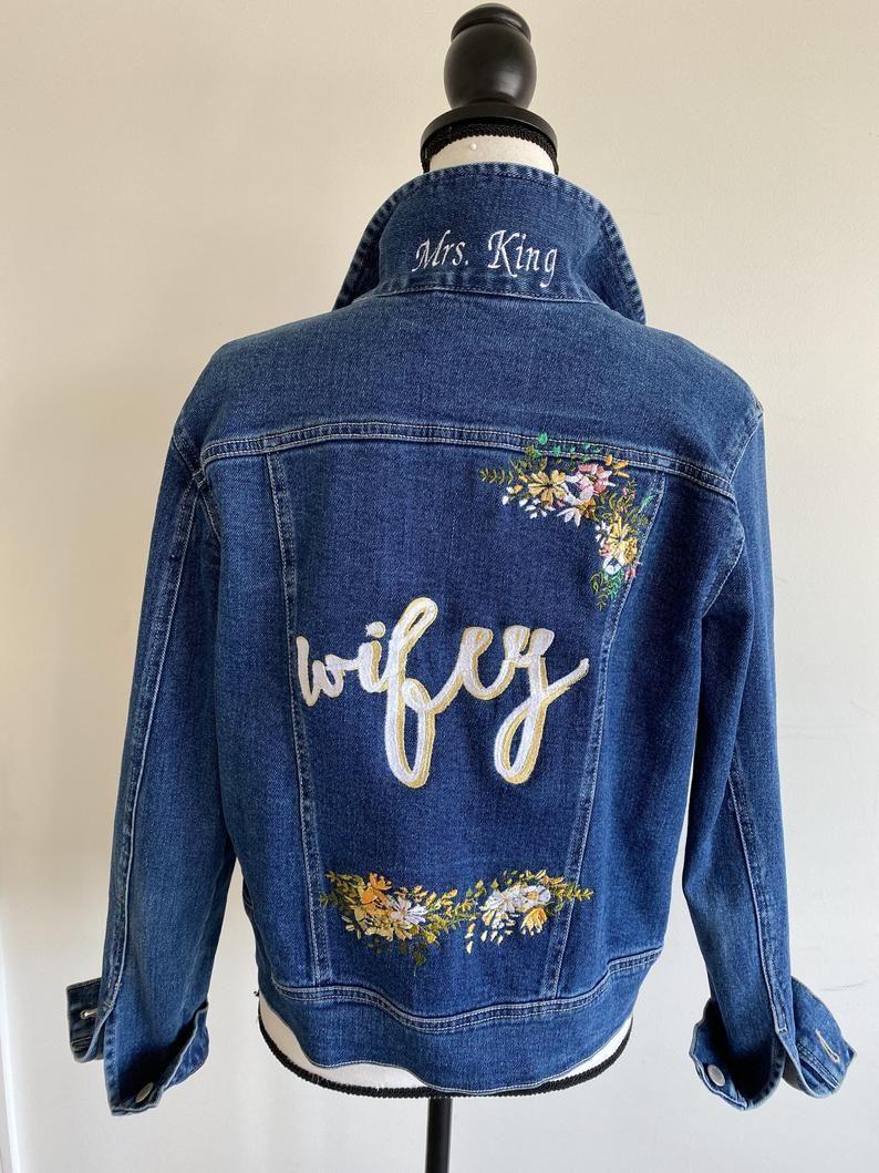 Wifey And Bestie Bridal Denim Jackets Custom Jean Jacket Etsy Personalized Jacket Denim Jacket Custom Jean Jacket [ 1059 x 794 Pixel ]