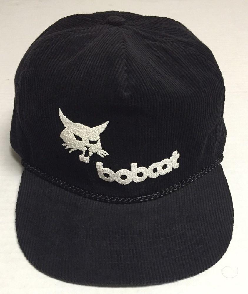 99a34db38bb Vtg Bobcat Company Zipback Hat Heavy Equipment North Dakota Corduroy  Otto   BaseballCap