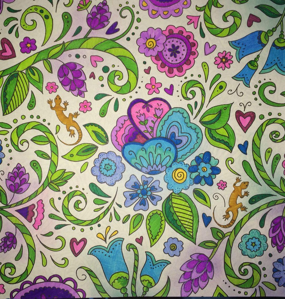 Zendoodle coloring enchanting gardens - Jardim Em Hidrocor Floresta M Gica Coloringgardenbooks