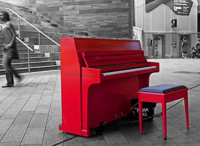 RED PIANO by mistyblue17, via Flickr