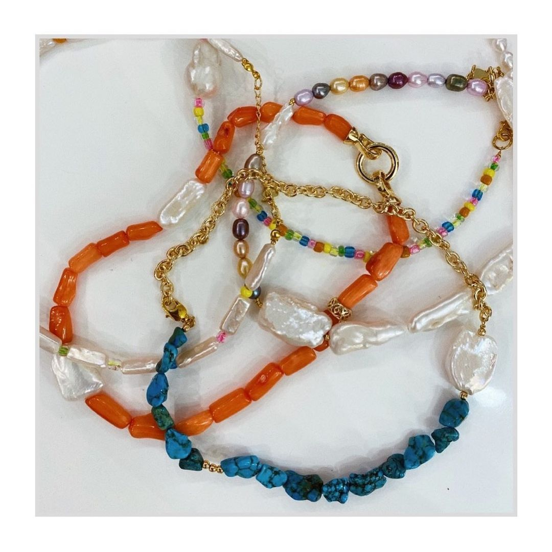 Women/'s trendy necklace wood a gift for her jewelery of threads necklace of natural linen wooden beads, ORANGE linen necklace