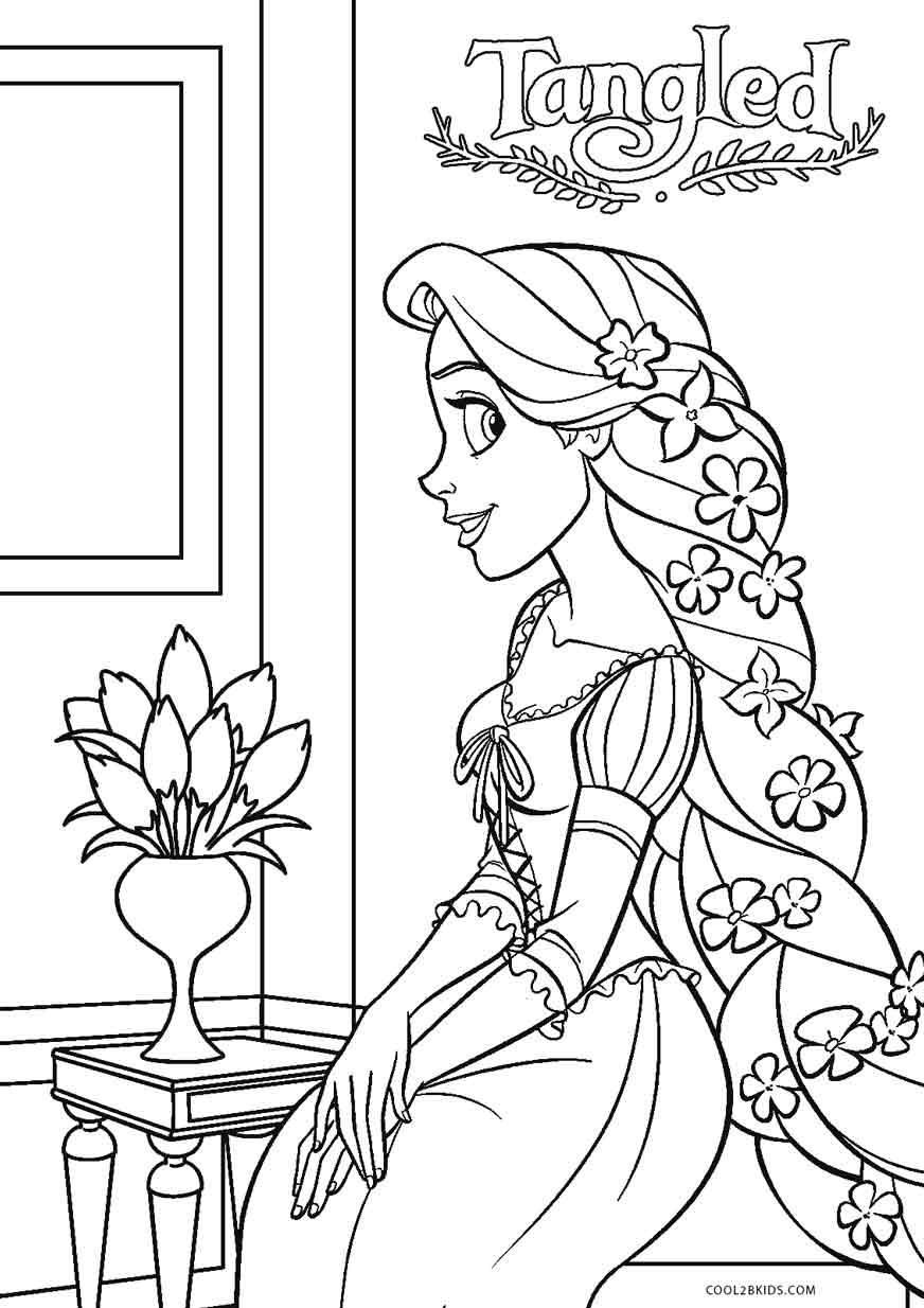 18 Coloring Page Rapunzel Tangled Coloring Pages Princess Coloring Pages Rapunzel Coloring Pages