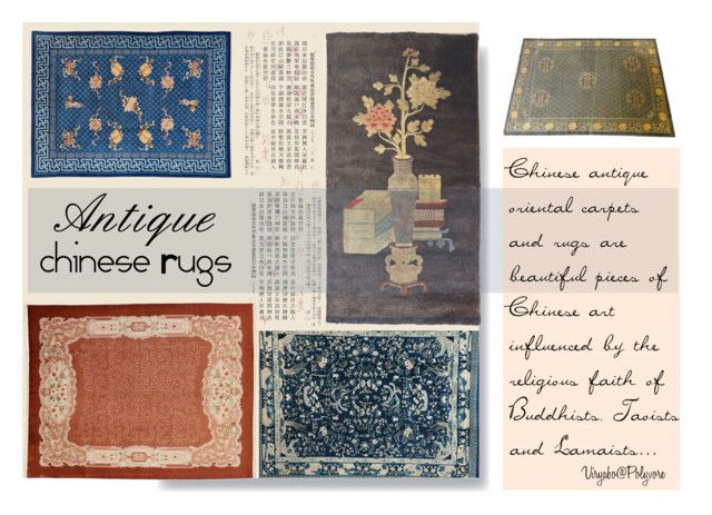 """Antique Chinese Rugs"" by viryabo ❤ liked on Polyvore featuring interior, interiors, interior design, home, home decor, interior decorating, carpet and arearugs"
