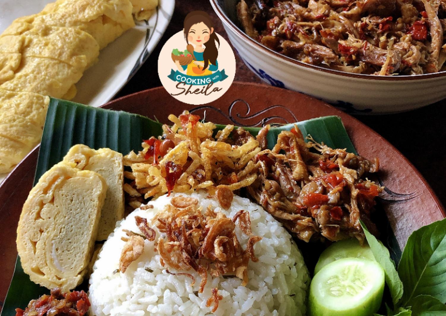 Resep Nasi Daun Jeruk Rice Cooker Oleh Cooking With Sheila Resep Memasak Piring Datar Ayam Goreng