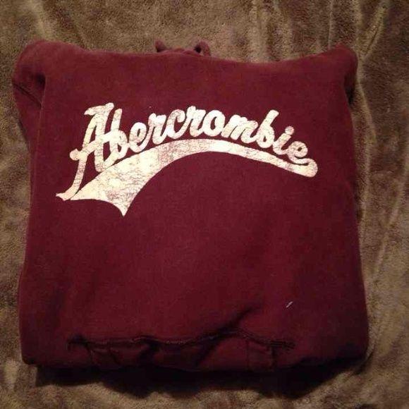 Abercrombie hoodie Burgundy Abercrombie hoodie Abercrombie & Fitch Tops Sweatshirts & Hoodies