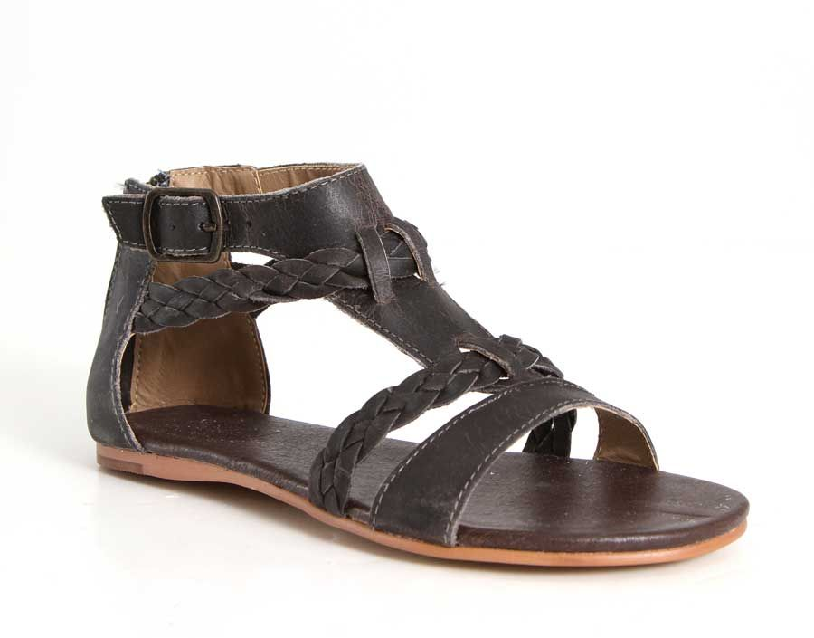 482b7d1cbf664c Roan Shoes Posey Braided Sandals in Black F990005-002