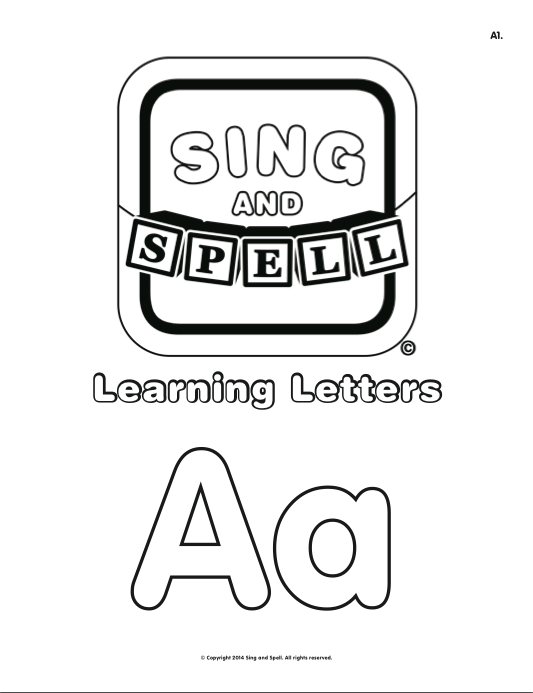 The Letter A. #singandspell #learningletters