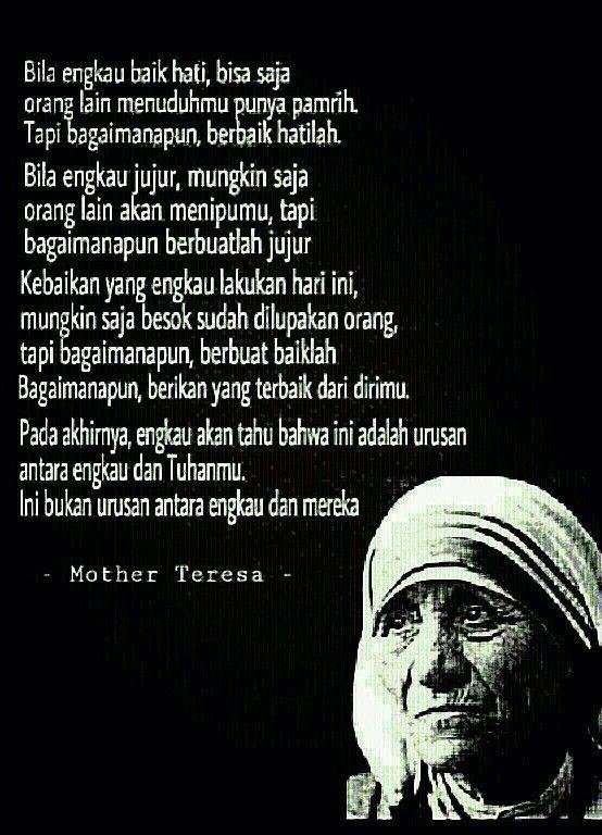 Mother Teresa Baik Hati Kutipan Orang