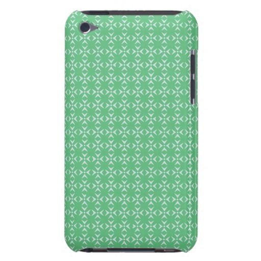 Mint Green/White crosses and dots pattern iPod Touch Cover  Simple, stylish, trendy. The perfect choice for your precious device. You can have this pattern in different colors, developed for her and him. Just have a look at my store. .Have a glamorous case nobody can't notice. Stay cool!