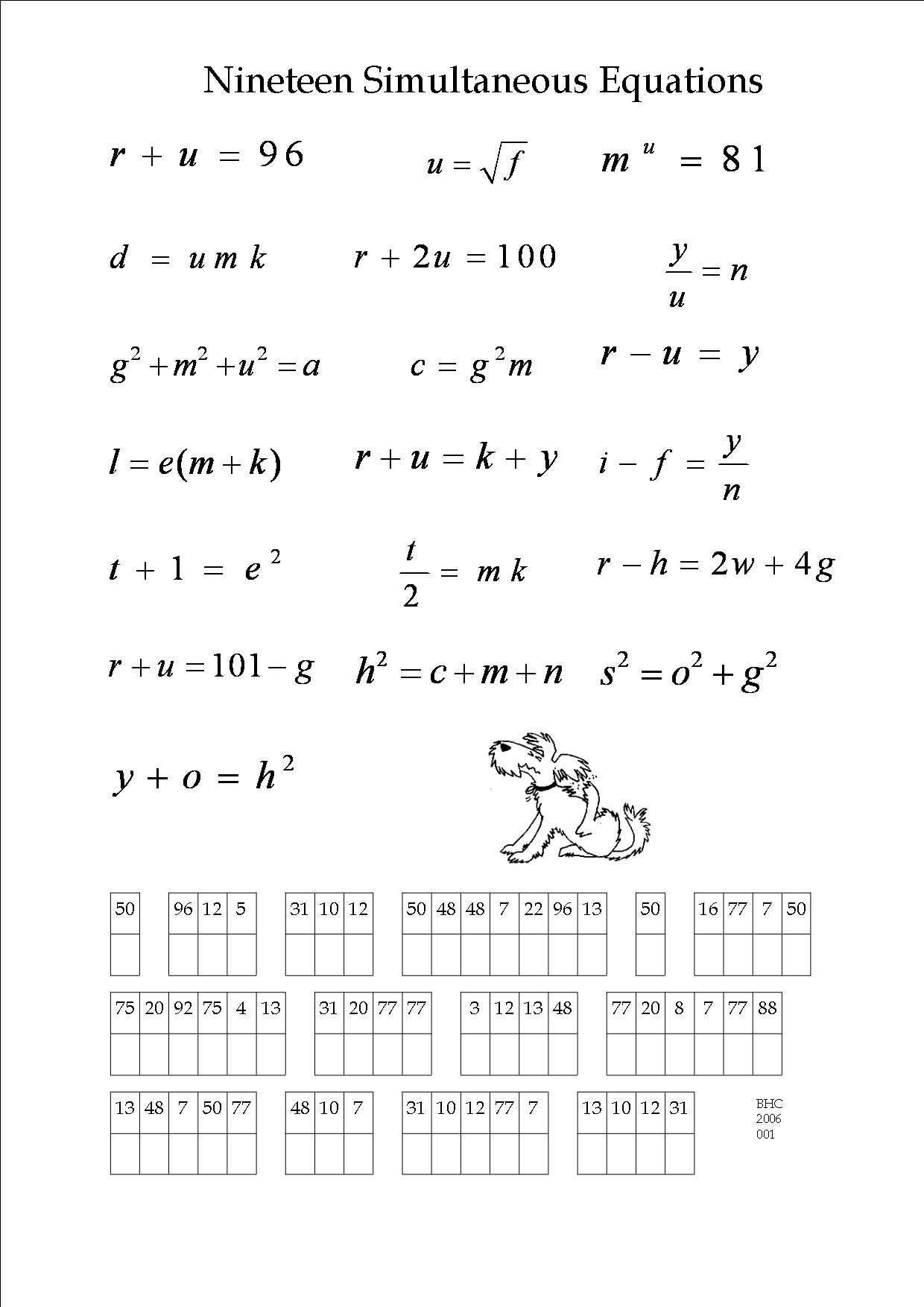 hight resolution of An algebra puzzle.   Math expressions