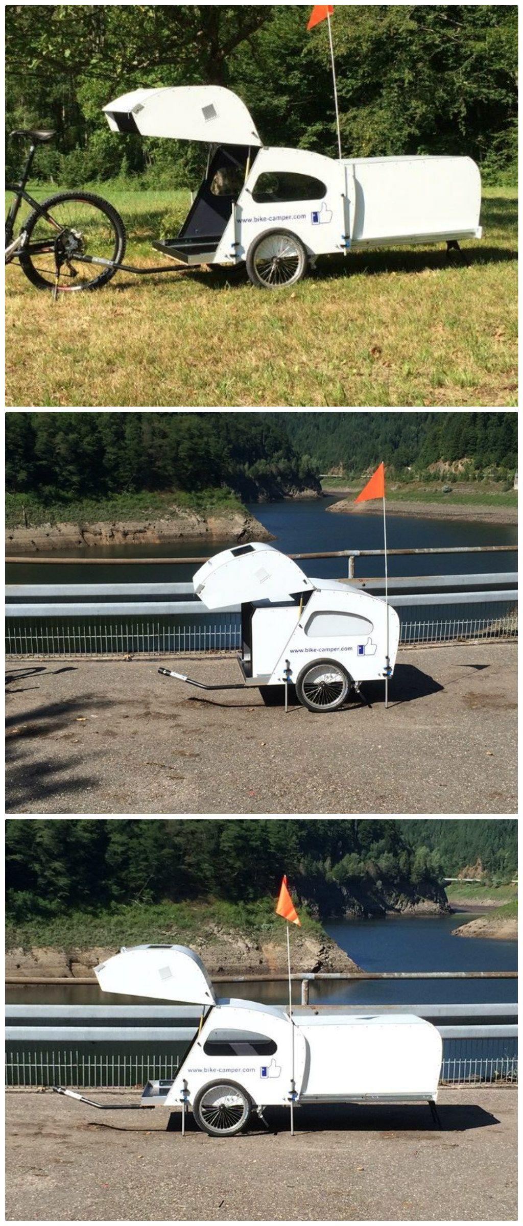 Bike-camper with extendable rear pod | Fahrrad | Pinterest ...