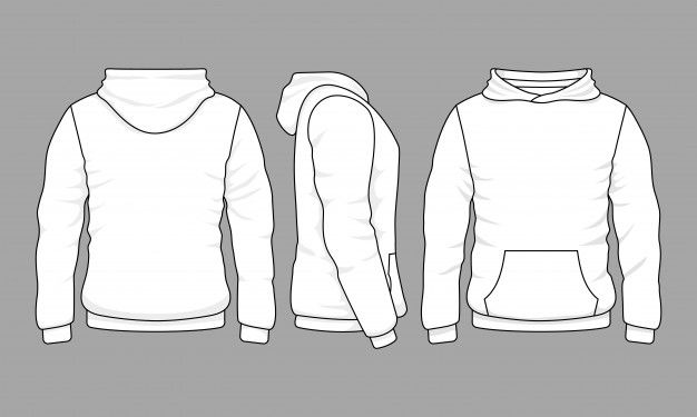 Male Hoodie Sweatshirt In Front Back And Side Views Sweatshirts Hoodie Hoodie Vector Hoodie Template