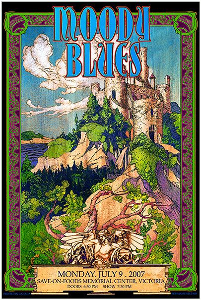 Moody Blues concert poster