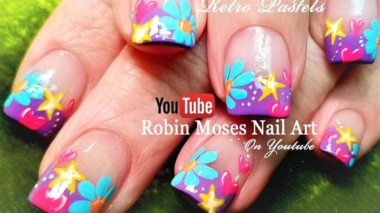 Spring Flower Nails Easy Diy Nail Art Design Tutorial Robin