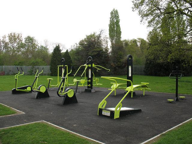 Outdoor Gym In Fairy Hill Park C Stephen Craven Geograph Britain And Ireland Outdoor Gym Playground Design Playground