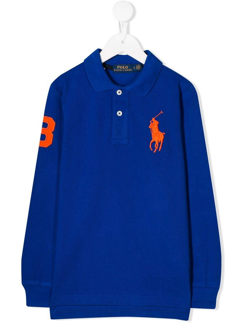 6 Royal Blue Polo Ralph Lauren Little Boys Long Sleeve Big Pony Mesh T-Shirt