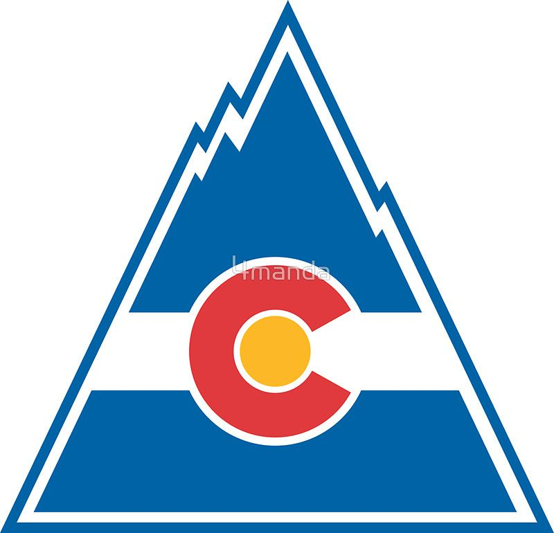 Colorado Rockies Sticker By 4manda Nhl Logos Colorado Rockies Hockey Logos