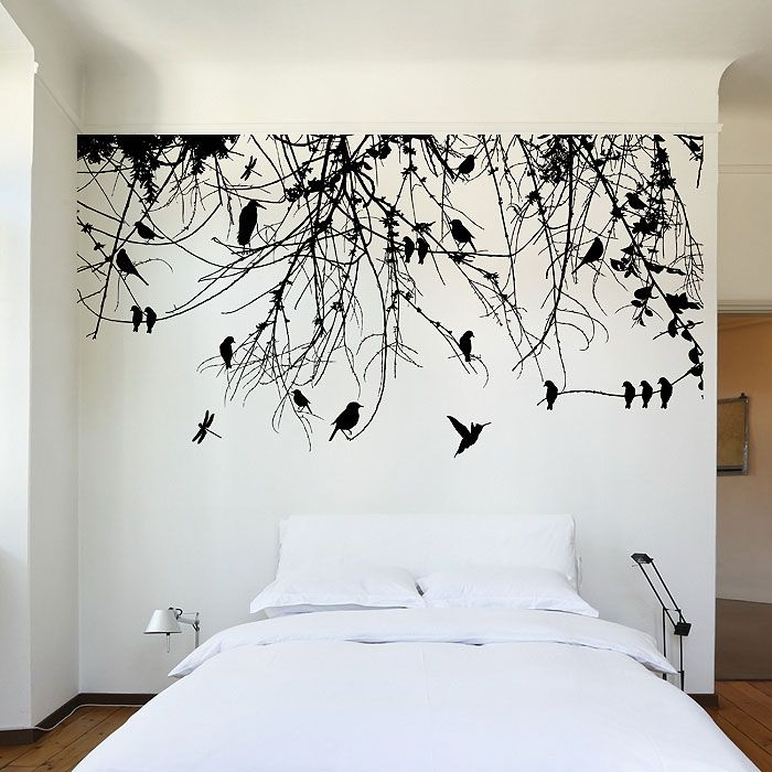 Tree Branch with Birds and Dragonfly Vinyl Wall Art Decal ...