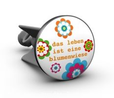 Das Leben ist eine Blumenwiese - Das Orginal von plopp. Eine nette kleine Geschenkidee, oder macht Euch selbst eine Freude und setzt in Eurem Bad neue Akzente. Gute Laune garantiert!