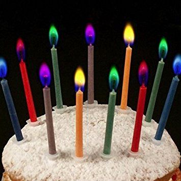 Angel Flames Coloured Birthday Cake Candles X 12 Amazoncouk