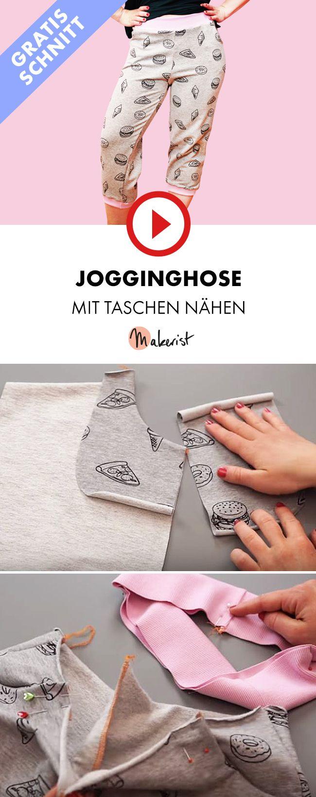 jogginghose aus jersey mit taschen an der overlock n hen makerist auf youtube n hen. Black Bedroom Furniture Sets. Home Design Ideas