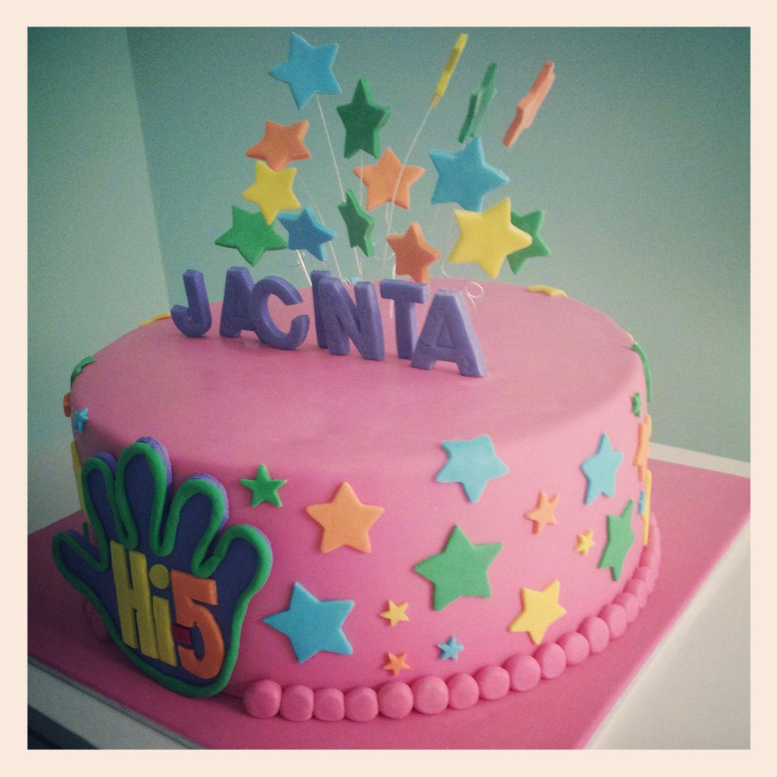 Pink Hi 5 Cake