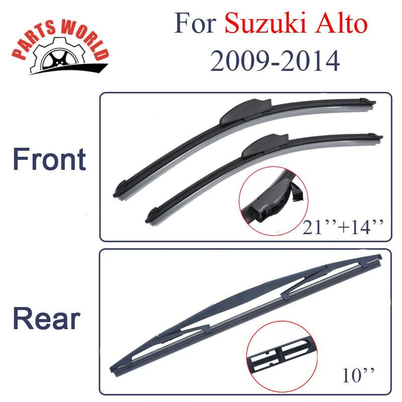 Group Silicone Rubber Front And Rear Wiper Blades For Suzuki Alto
