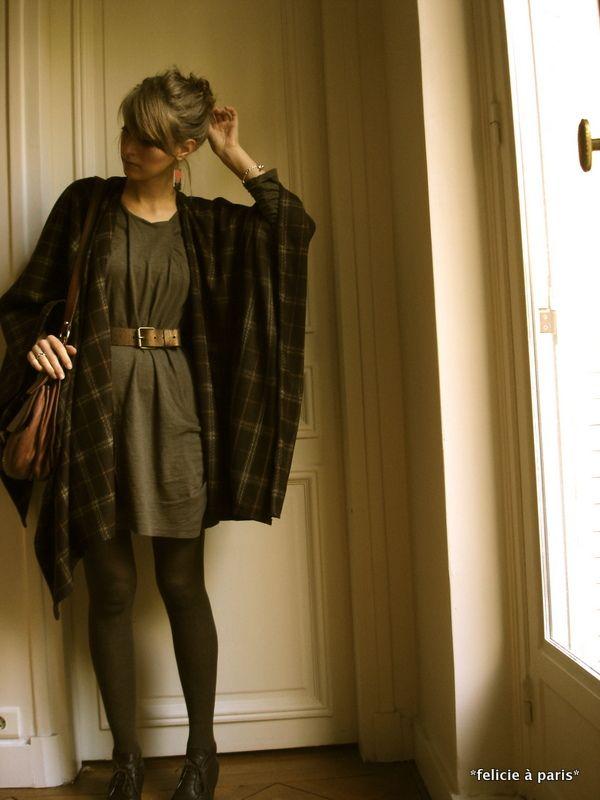 Poncho écossais 1 - Félicie à Paris | Wear It | Pinterest | Ponchos ...