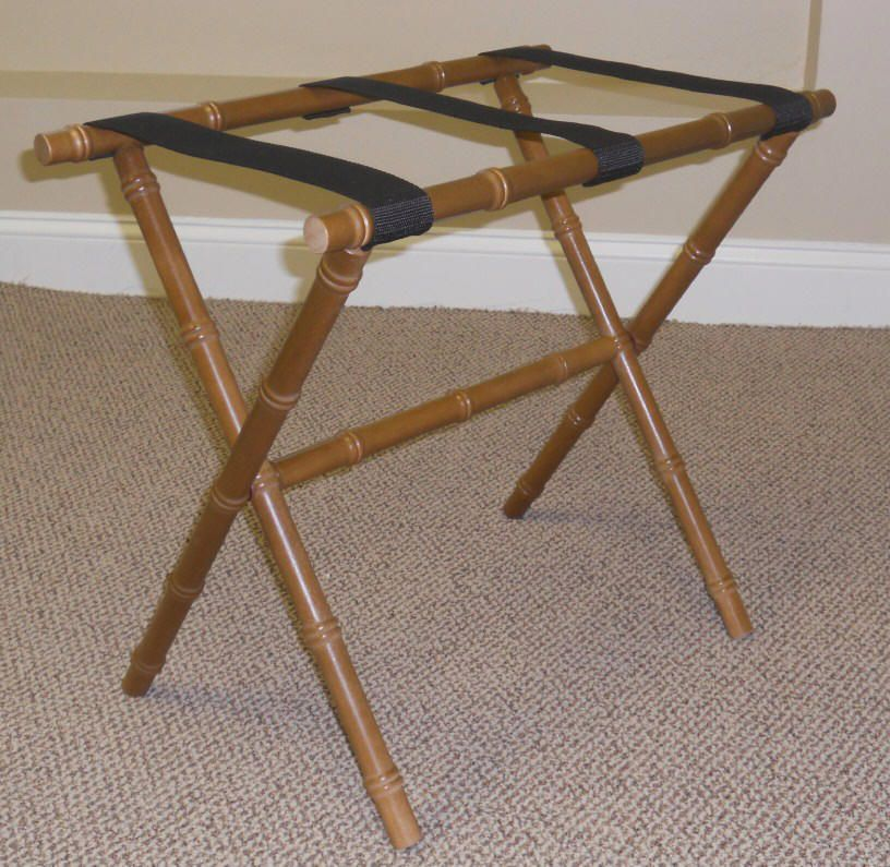 Luggage Style Furniture: Rattan Luggage Racks With Style From Dann, Bamboo Luggage