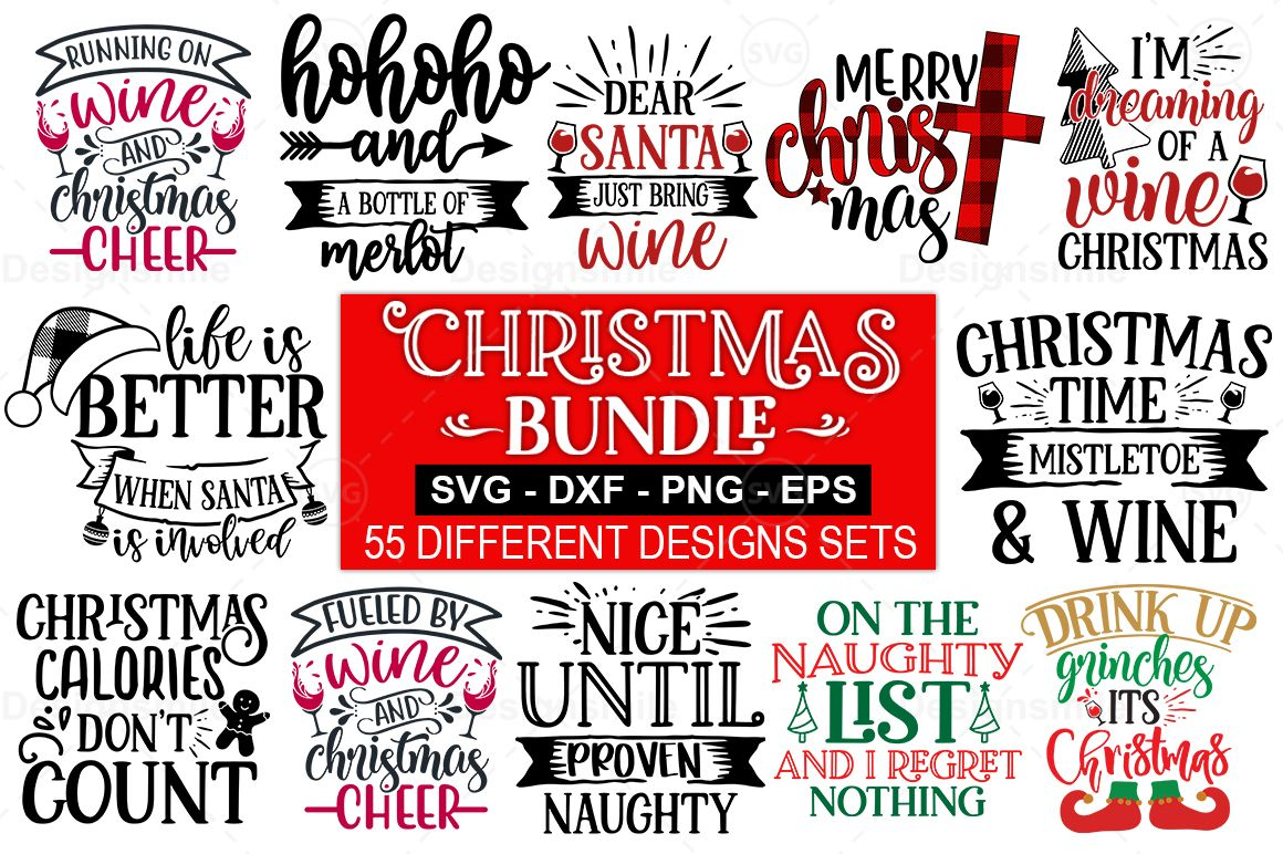 55 Christmas Svg Bundle Graphic By Designdealy Com Creative Fabrica Di 2020